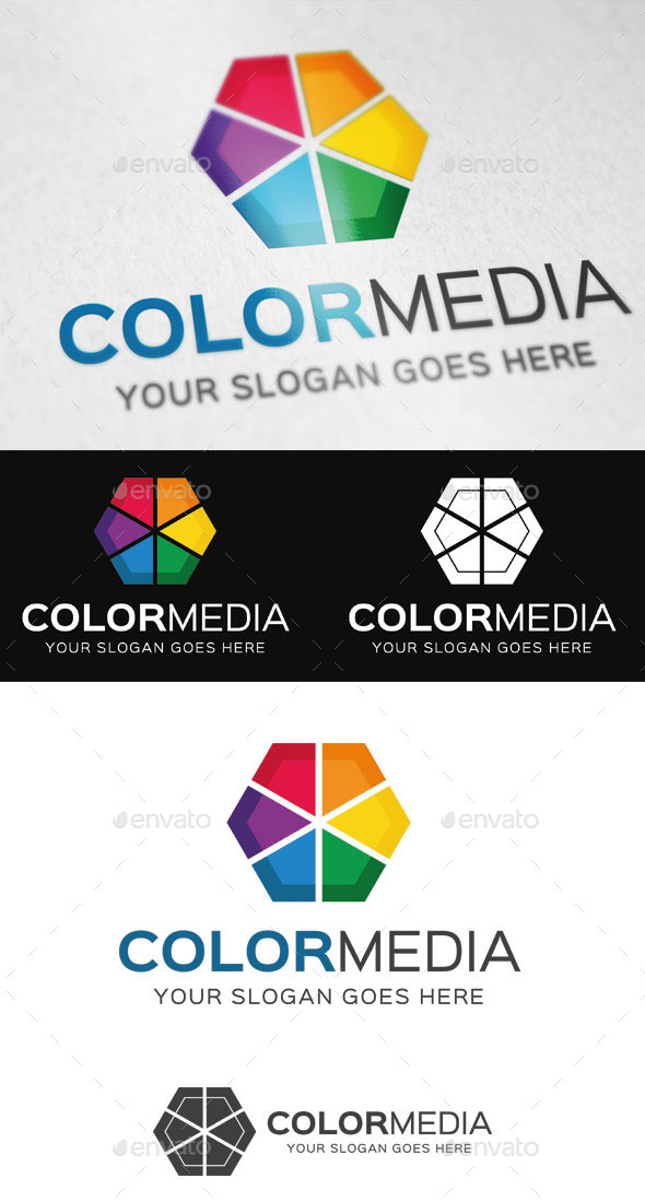 GraphicRiver Color Media Logo Template 9434139