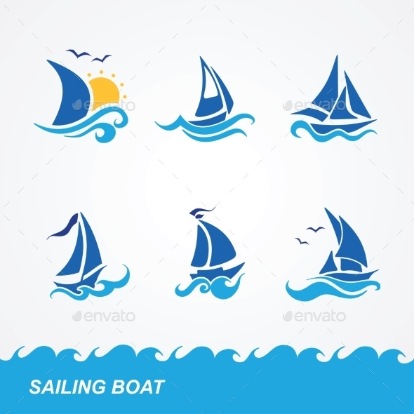 GraphicRiver Set of Sailboat Icons 9434141