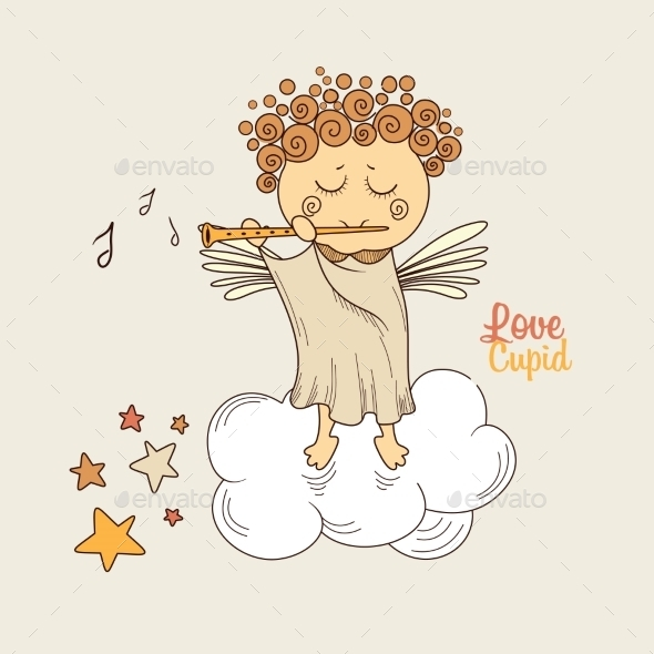 Cupid Playing the Flute