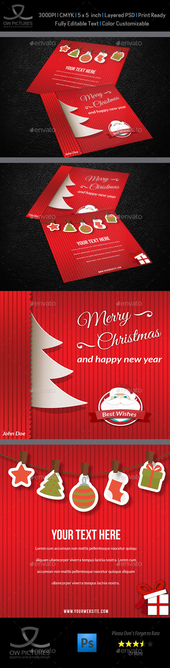 GraphicRiver Christmas and New Year Greeting Card Vol.3 9434285