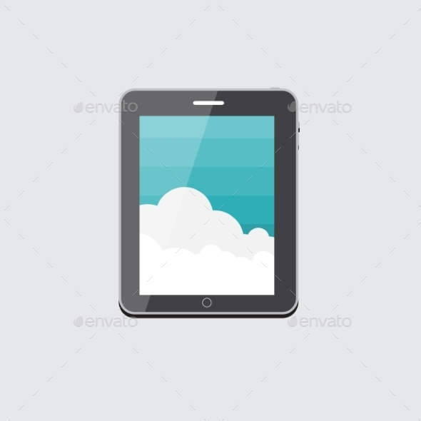 GraphicRiver Flat Computer Tablet Concept Vector Illustration 9434412