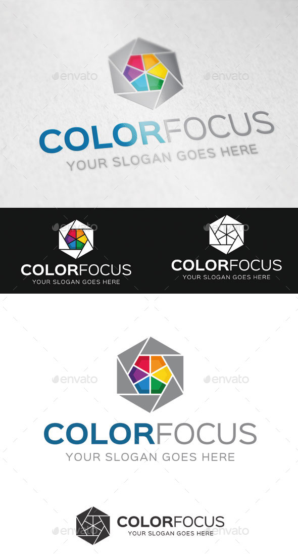 GraphicRiver Color Focus Logo Template 9434413