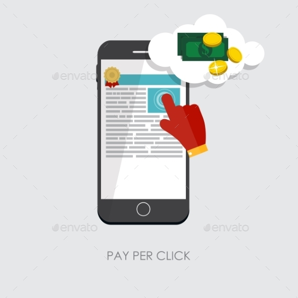 GraphicRiver Pay Per Click Flat Concept for Web Marketing 9434417