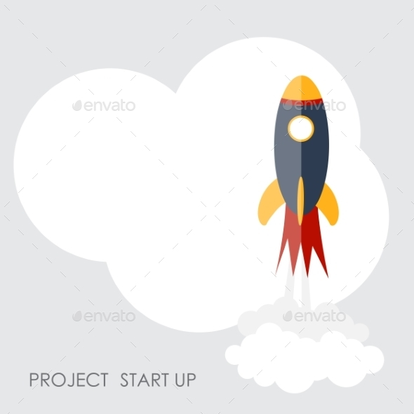 GraphicRiver Quick Start Up Flat Concept Vector Illustration 9434423