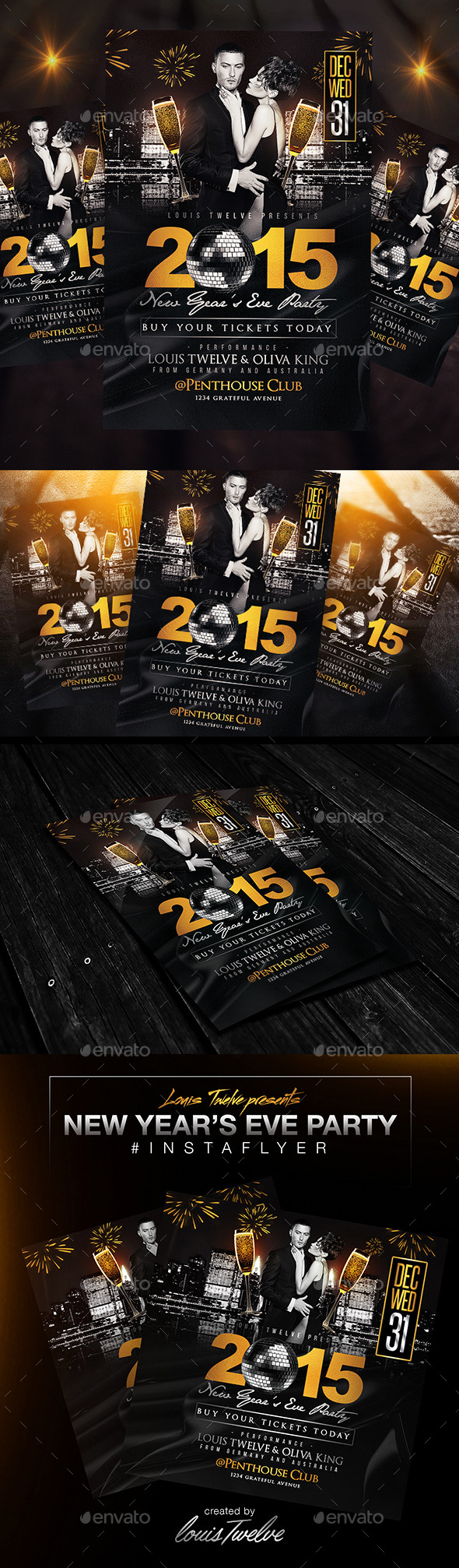 GraphicRiver New Year s Eve Party Flyer & InstaPromo 9434457