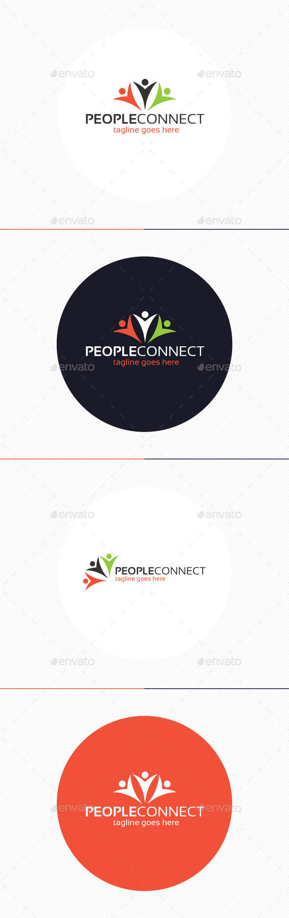 GraphicRiver People Connect Logo 9434529