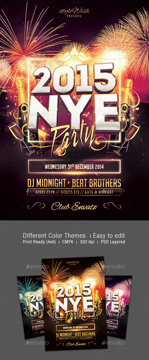 GraphicRiver New Year Party Flyer 9434588