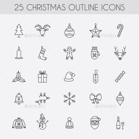 GraphicRiver Holiday New Year Icons 9434785