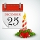 25 December Opened Calendar With Candle - GraphicRiver Item for Sale
