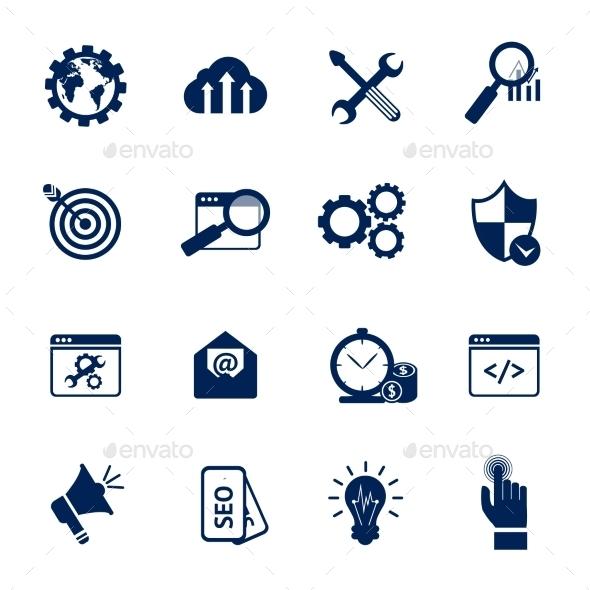 GraphicRiver Seo Internet Marketing Symbols 9434860