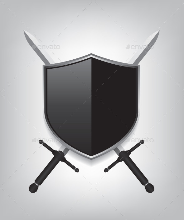 GraphicRiver Swords and Black Shield 9434870