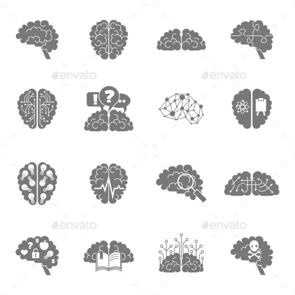 GraphicRiver Brain Icons 9435049