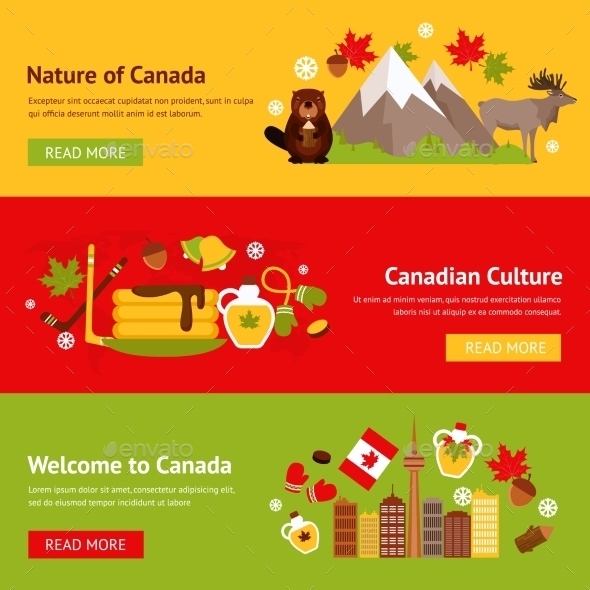 GraphicRiver Canada Banner Set 9435239