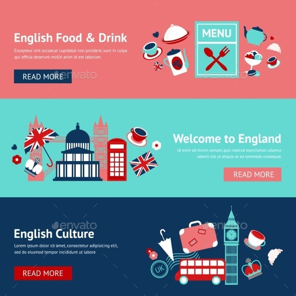 GraphicRiver England Banner Set 9435263