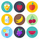 Fruits and Drink Flat Icons - GraphicRiver Item for Sale