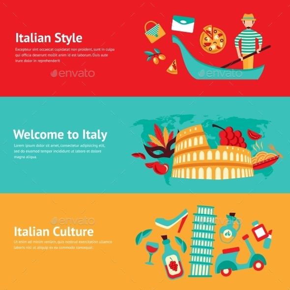 GraphicRiver Italy Banner Set 9435269