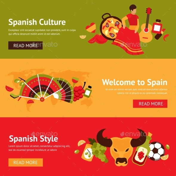 GraphicRiver Spain Banner Set 9435272