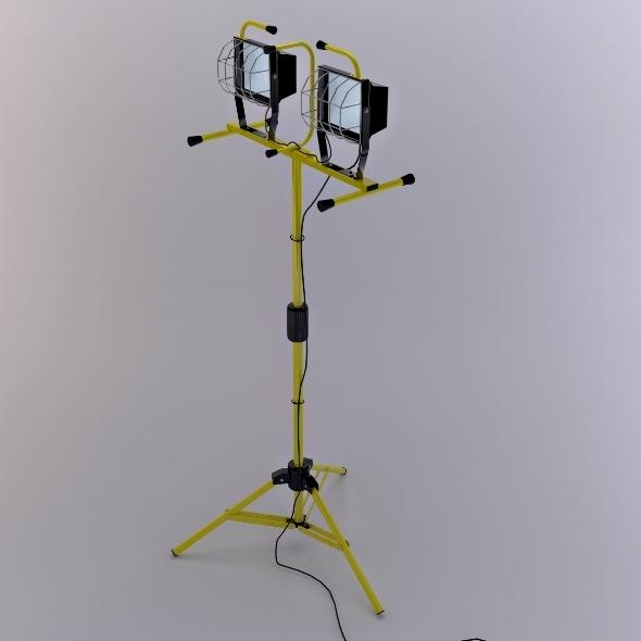 Halogen Stand Work Light - 3DOcean Item for Sale