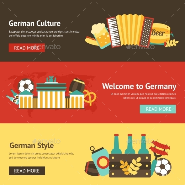 GraphicRiver Germany Banner Set 9435277