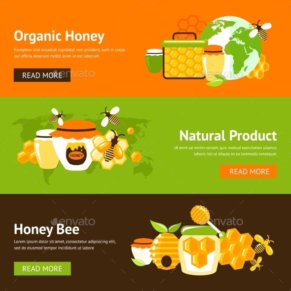 GraphicRiver Honey Banner Set 9435286