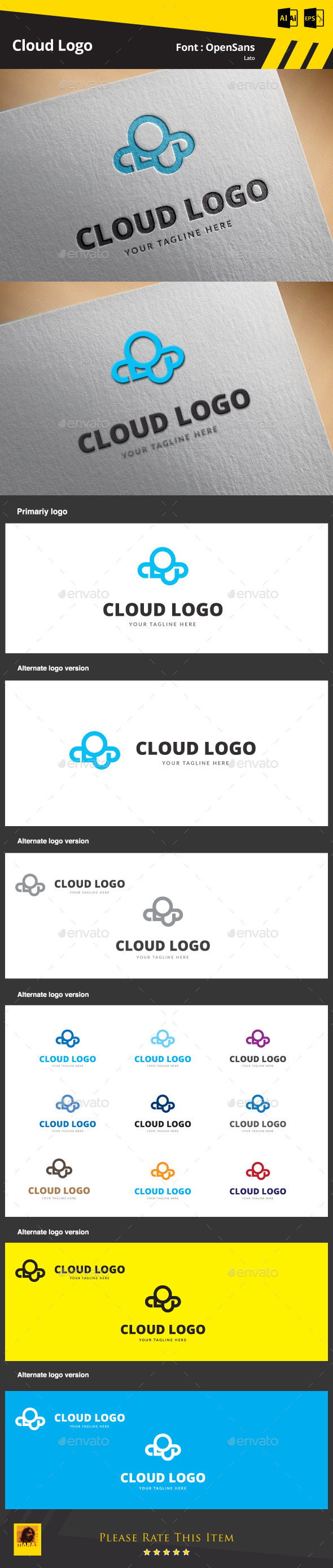 GraphicRiver Cloud Logo Template 9435376