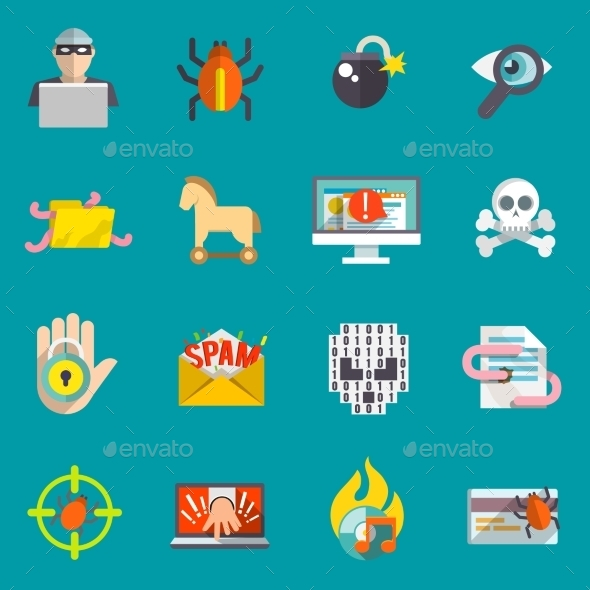 GraphicRiver Hacker Icons Set 9435682