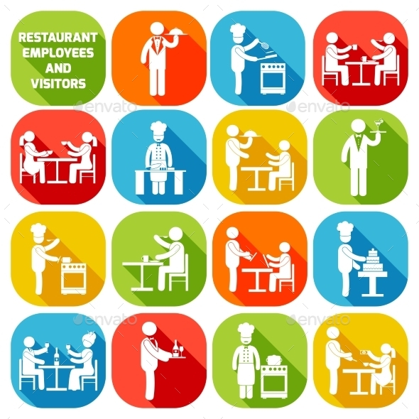GraphicRiver Restaurant Employees White 9435693