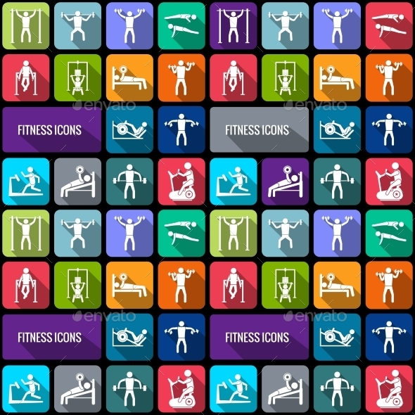 GraphicRiver Fitness Icons Set 9435783