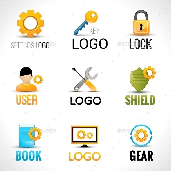 GraphicRiver Settings Logo Set 9435787