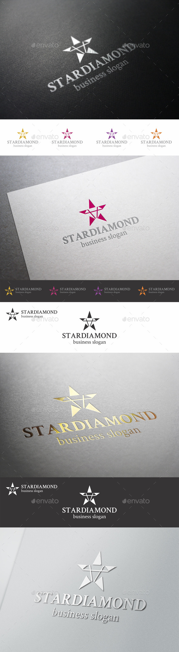 GraphicRiver Star Diamond Logo Template 9435819