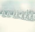 Retro Christmas winter landscape background.  - PhotoDune Item for Sale