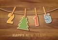 2015 with a christmas tree on wooden background.  - PhotoDune Item for Sale