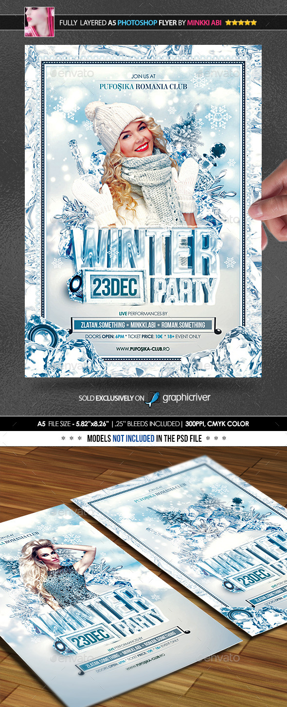 GraphicRiver Winter Party Poster Flyer 9435952
