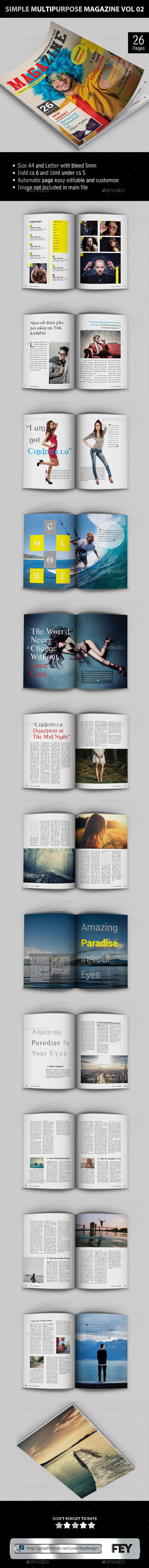 GraphicRiver Simple Multipurpose Magazine Vol.02 9258089