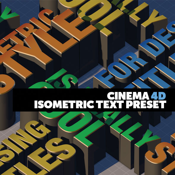 Cinema 4D 3D Title Presets Isometric Style - 3DOcean Item for Sale