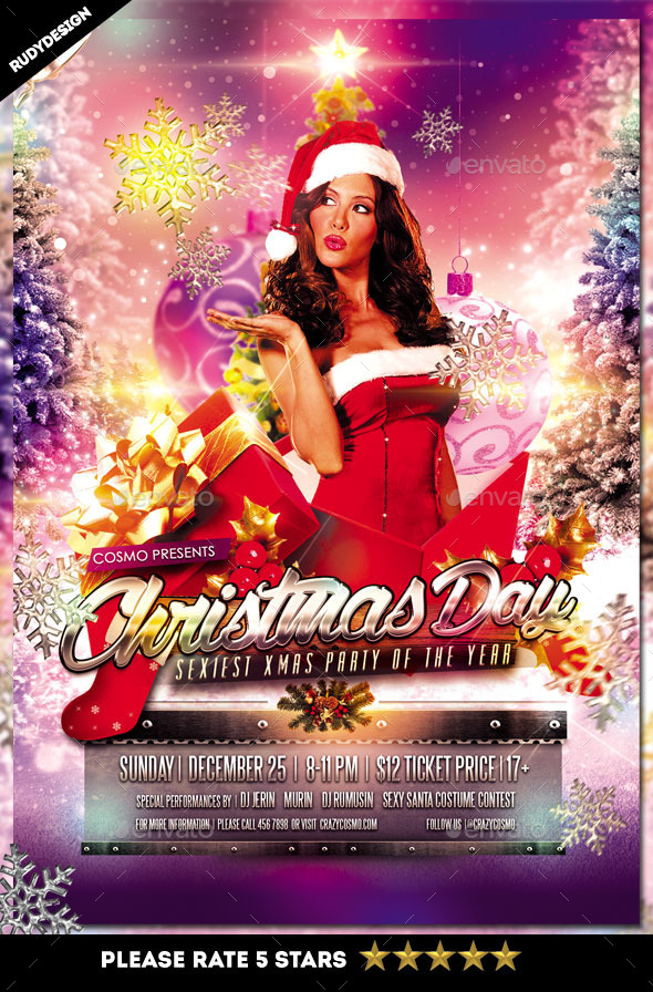 Sexy Christmas Day Party Flyer