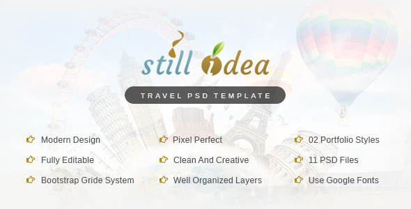 ThemeForest Stillidea Travel Clean PSD Template 9332817