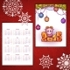 Vector Christmas Calendar with Sheep and 2015 - GraphicRiver Item for Sale