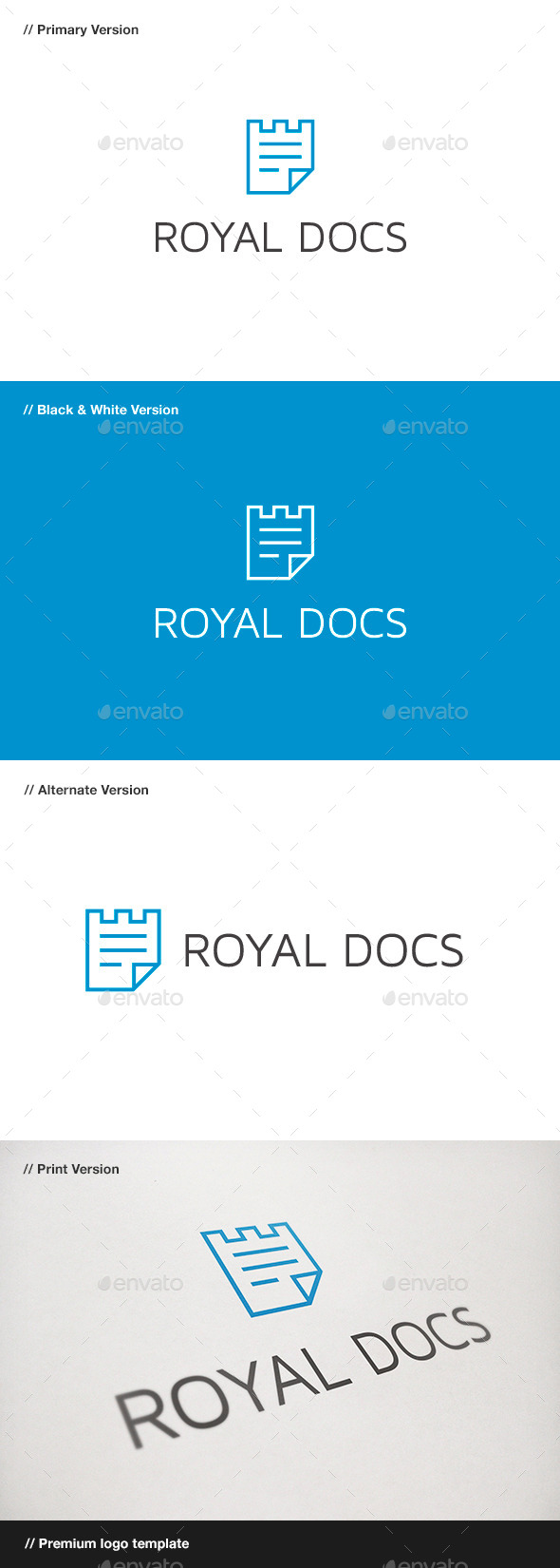 GraphicRiver Royal Docs Logo 9436324