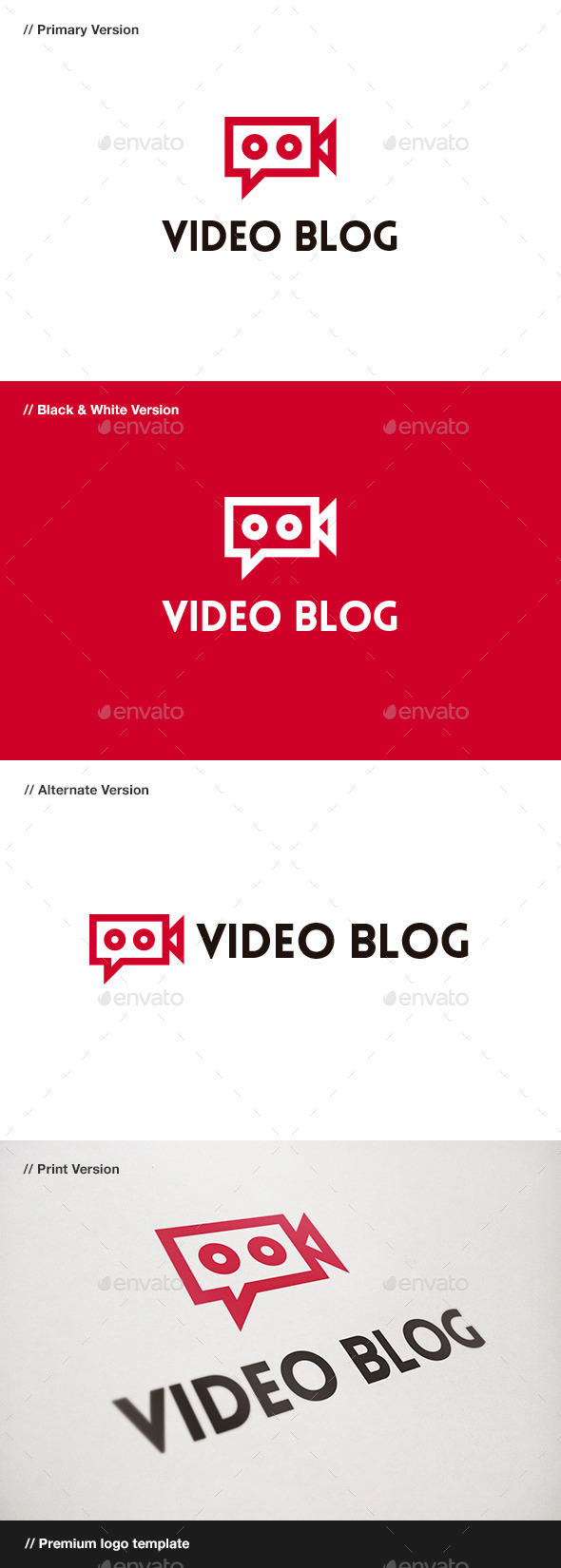 GraphicRiver Video Blog Logo 9436444