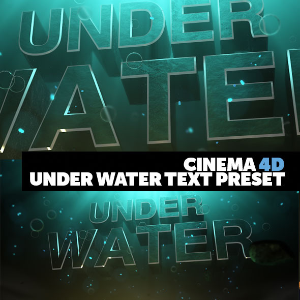 Cinema 4D Title Preset Under Water Style  - 3DOcean Item for Sale