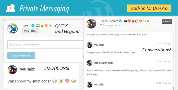 Private Messages for UserPro - CodeCanyon Item for Sale