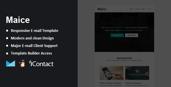 ThemeForest Maice Responsive Email & Themebuilder Access 9406178
