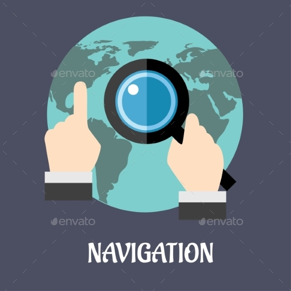 GraphicRiver Navigation or Search Concept 9436814