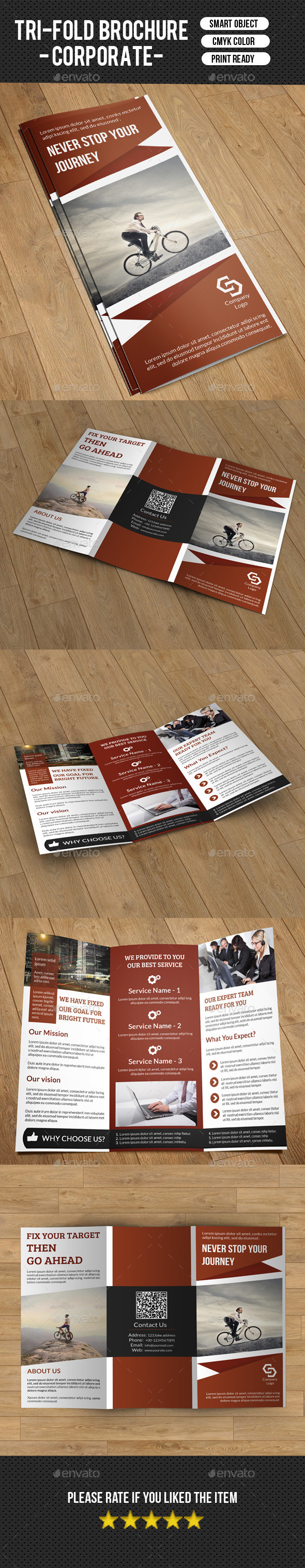 GraphicRiver Trifold Business Brochure-V183 9436815