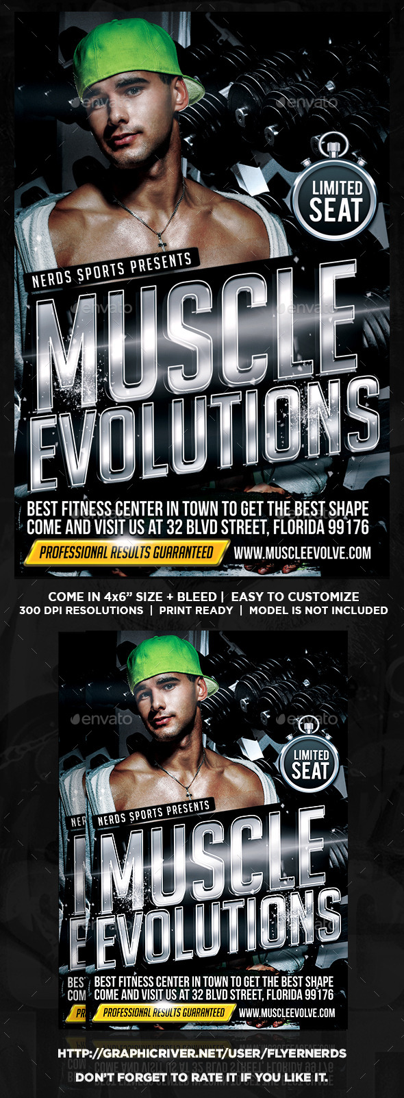 GraphicRiver Muscle Evolutions Sports Flyer 9436818