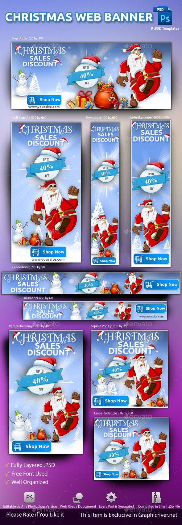 GraphicRiver Christmas Web Banner 9436819
