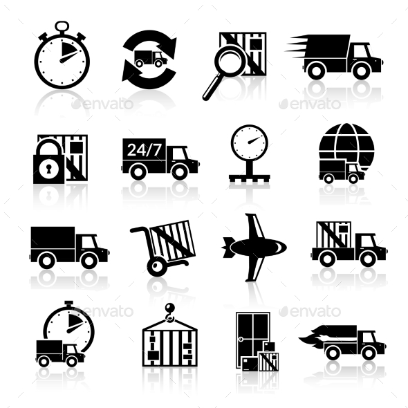 GraphicRiver Delivery Icons Set 9436823