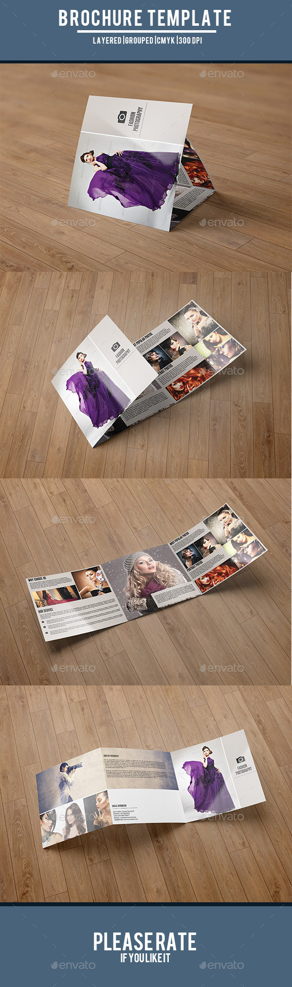 Square Trifold for Fashion Photography