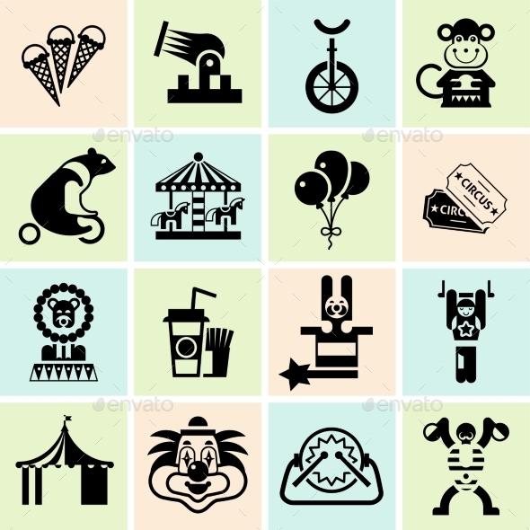 GraphicRiver Circus Icons Set 9436947